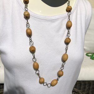 Jewelry - Natural Wooden Bead Necklace